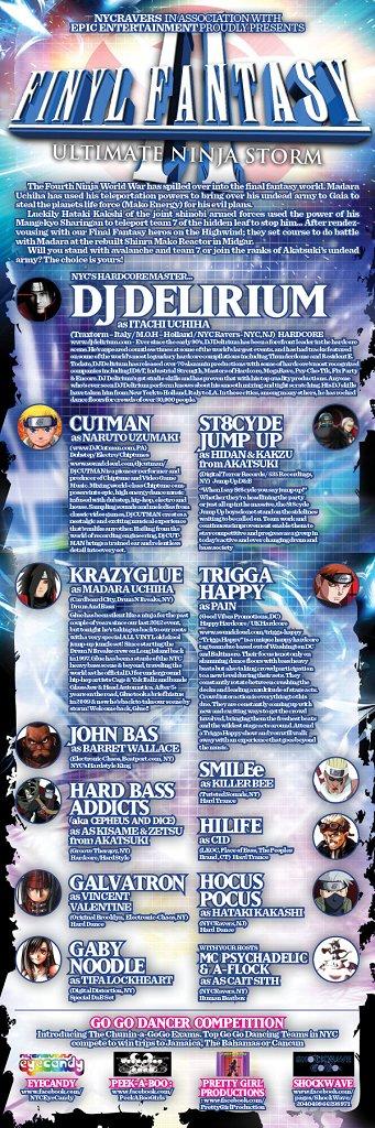 Finyl Fantasy Ii: Ultimate Ninja Storm - Flyer back