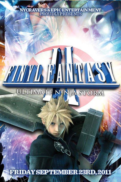 Finyl Fantasy Ii: Ultimate Ninja Storm - Flyer front