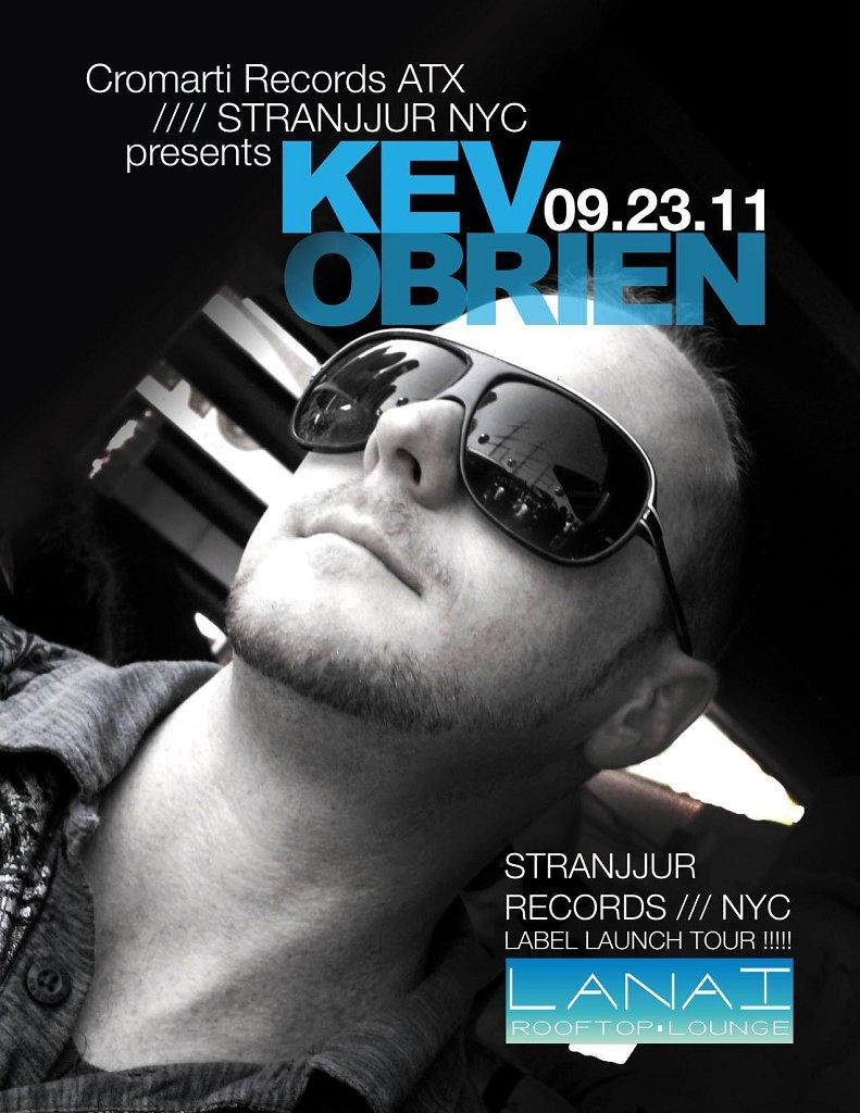 Cromarti Records ATX - Stranjjur Nyc presents Kev Obrien - Flyer front