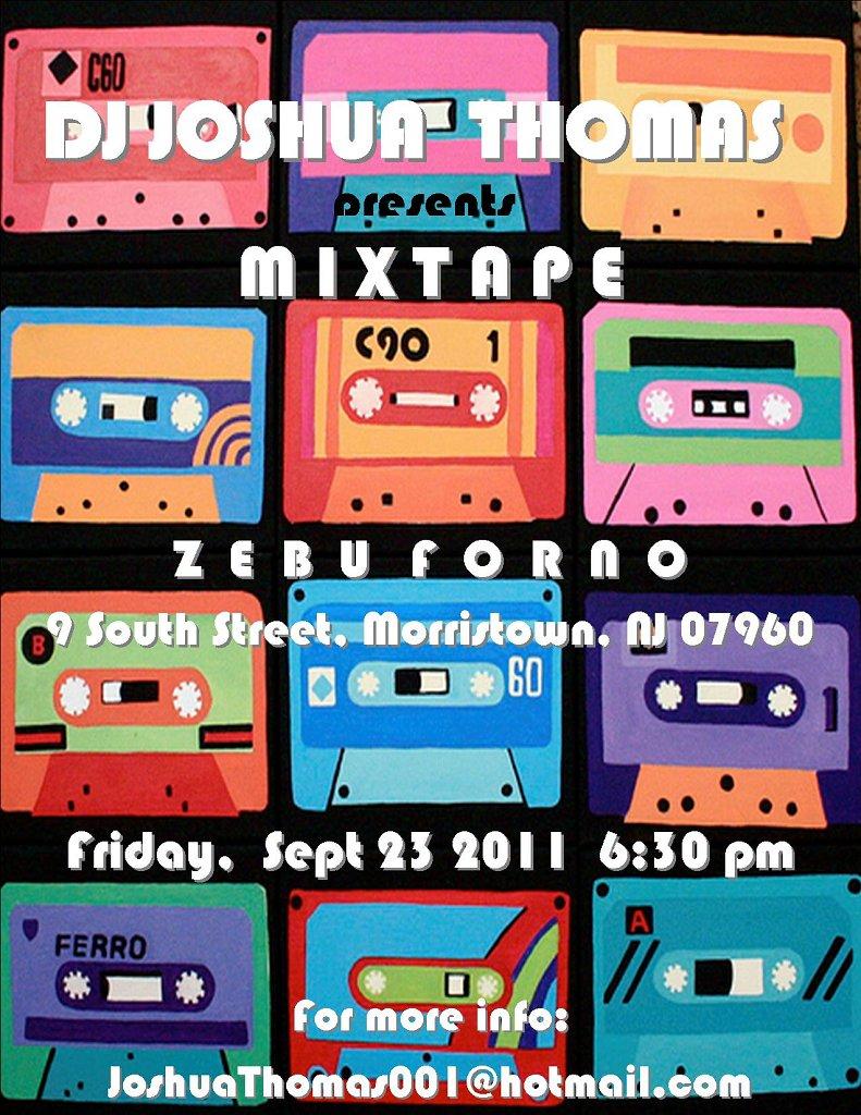Dj Joshua Thomas presents Mixtape - Flyer front
