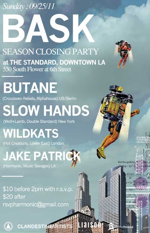 Bask Season Closing Party with Butane, Slow Hands and Wildkats - Flyer front