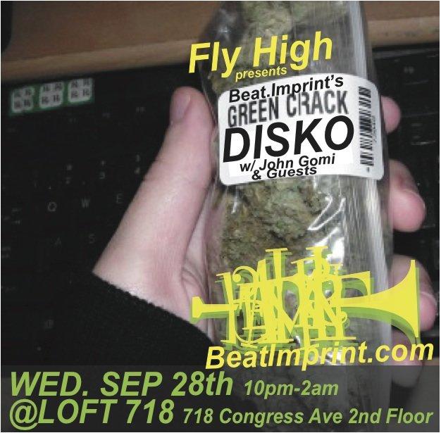 Green Crack Disko - Flyer front