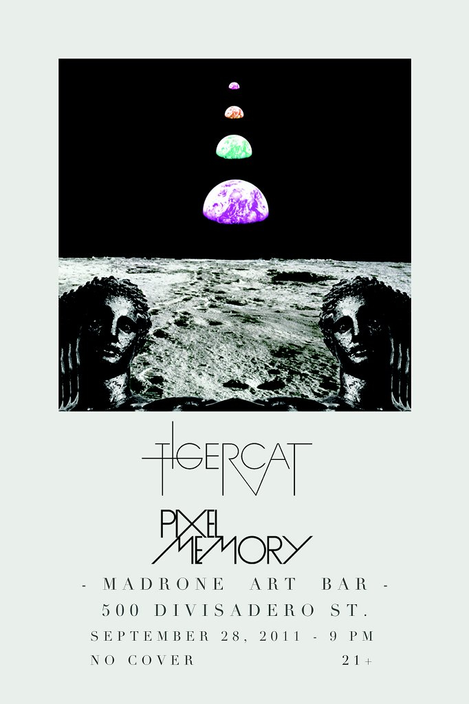 Tigercat and Pixel Memory - Flyer front