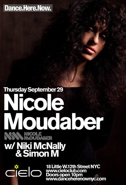 Nicole Moudaber - Dance.Here.Now - Flyer front