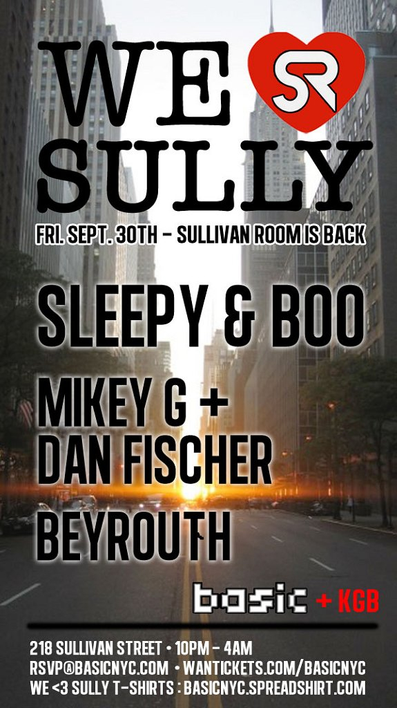 We Love Sully with Sleepy & Boo - Flyer front