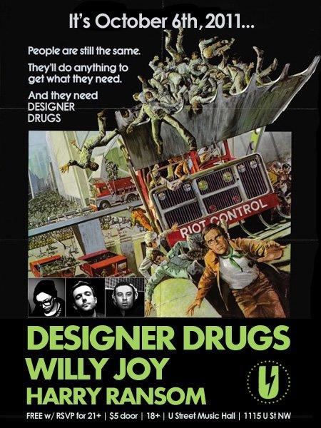 Designer Drugs - Flyer front