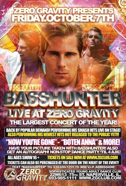 Basshunter - Flyer front