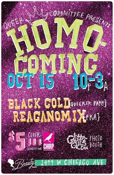 Queer Committee presents: Homo Coming - Flyer front