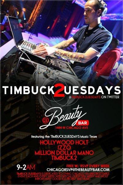 Timbuck2uesdays feat Dj Timbuck2 - Flyer front