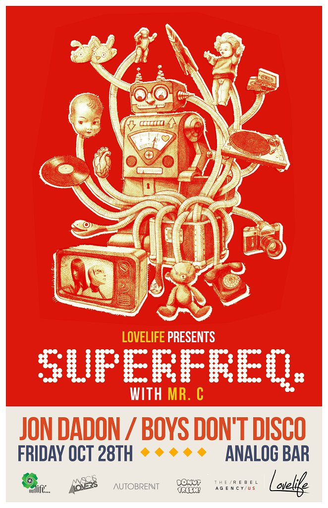 Lovelife presents... Superfreq with Mr C - Flyer front