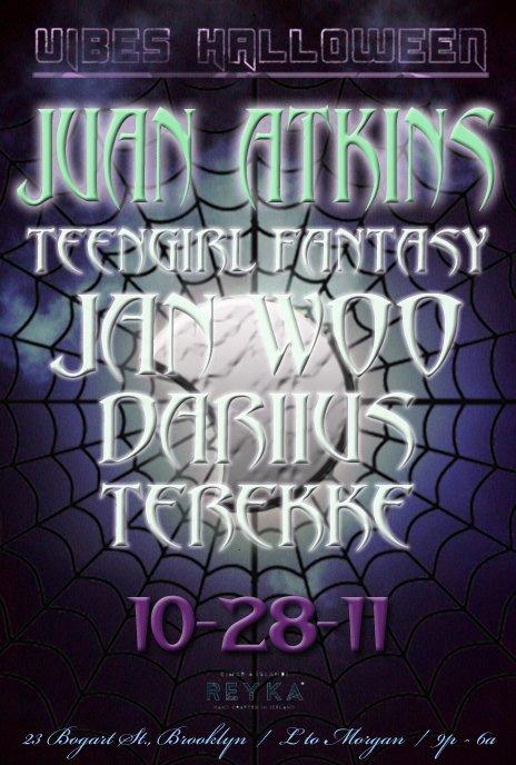 Vibes Halloween feat Juan Atkins + Teengirl Fantasy - Flyer front