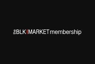 Blkmarket Membership with Marco Carola - Flyer front