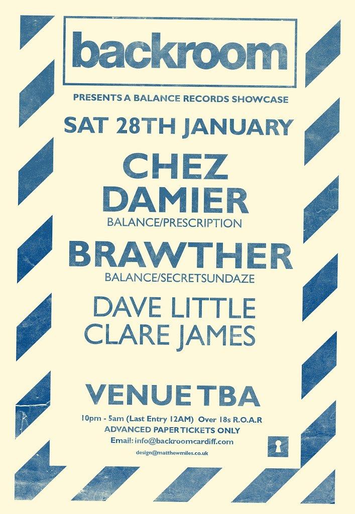 Backroom presents Chez Damier & Brawther - Flyer front