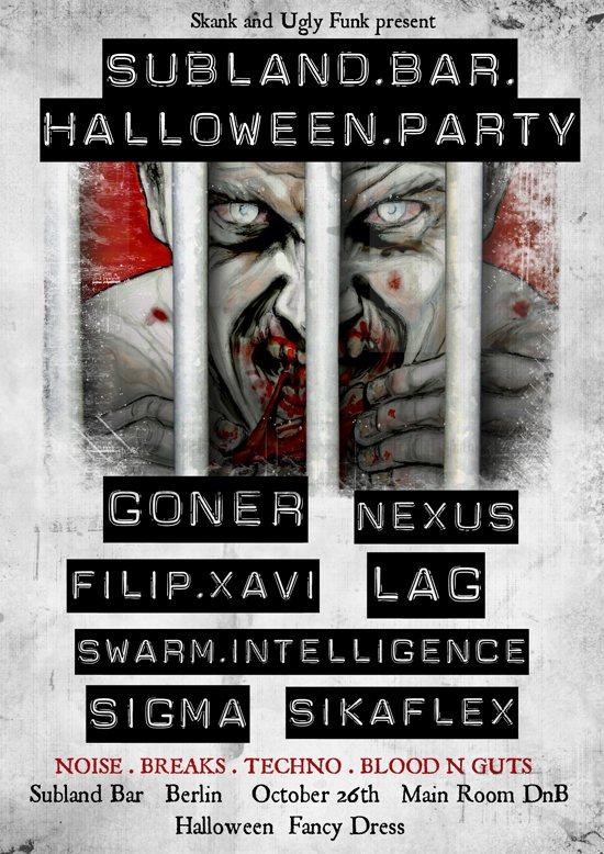 Skank vs Ugly Funk Halloween Special - Flyer front