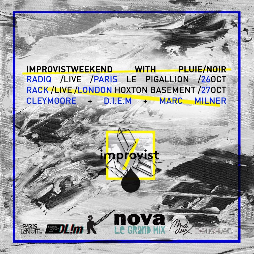 Improvist Weekend with Pluie/Noir - Flyer back