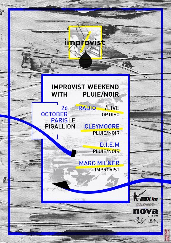 Improvist Weekend with Pluie/Noir - Flyer front