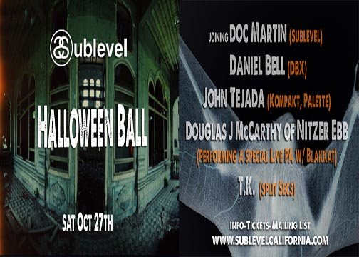 Sublevel's Halloween Bash - Flyer front