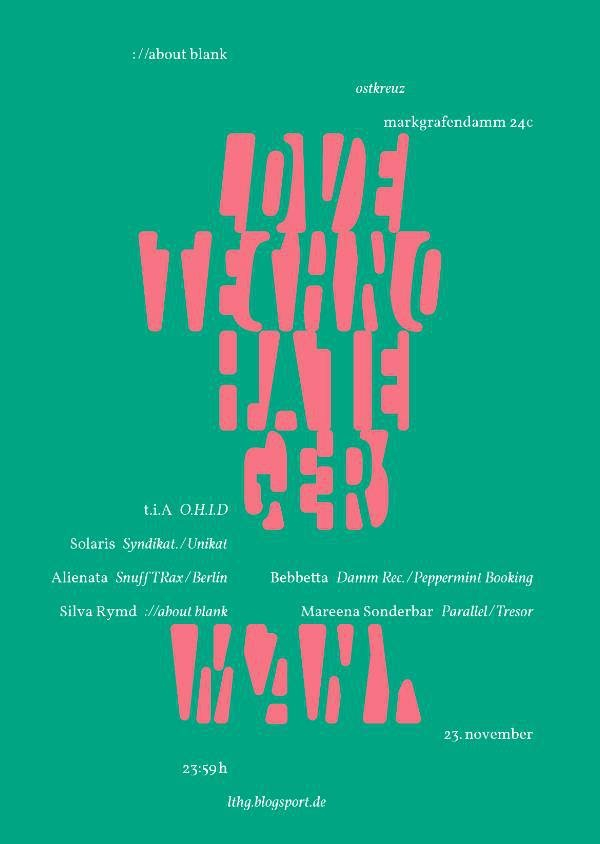 Love Techno - Hate Germany - Flyer front