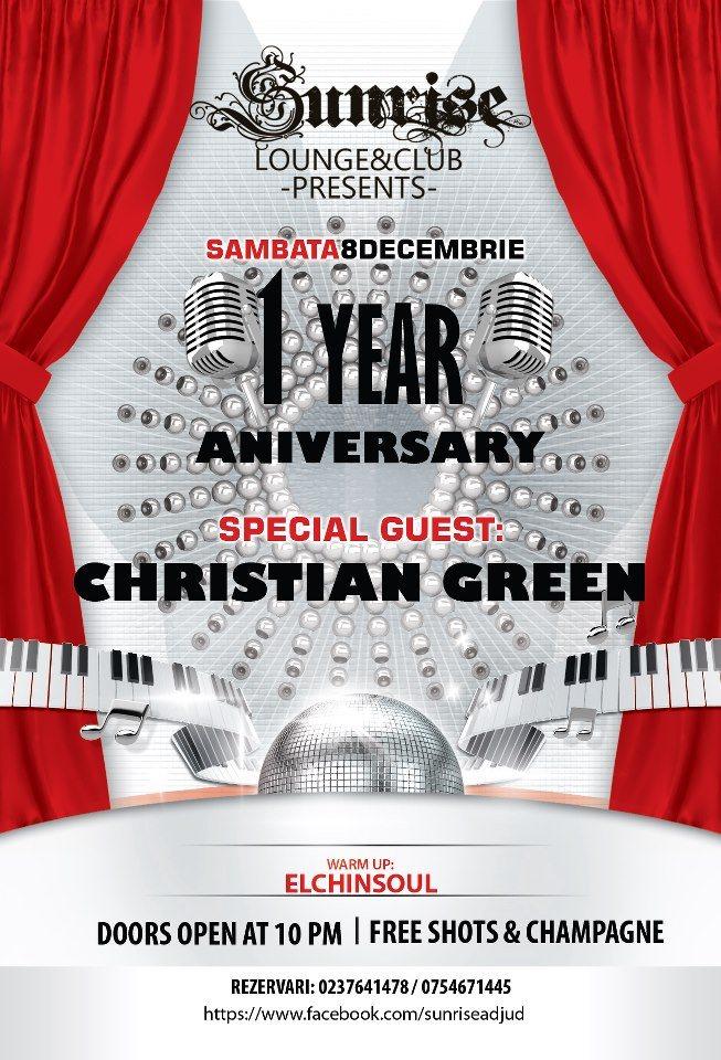Christian Green Live - Flyer back