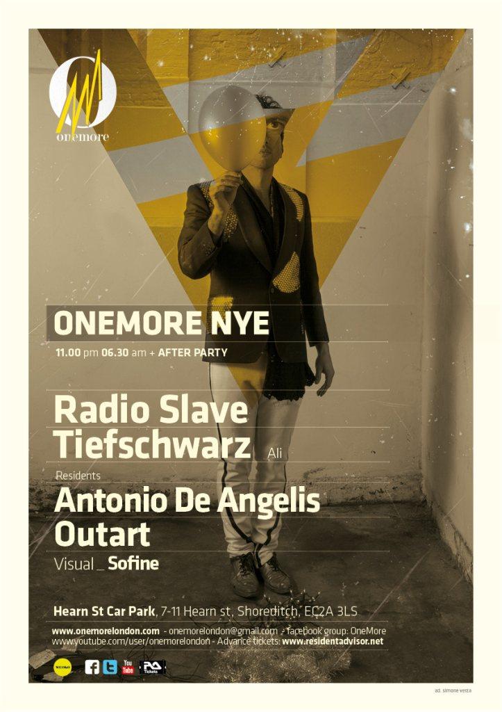 Onemore NYE with Radio Slave & Tiefschwarz - Flyer front