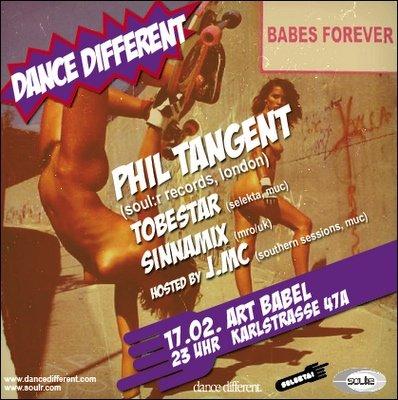 Selekta! - Dance Different Pres. Phil Tangent - Flyer front