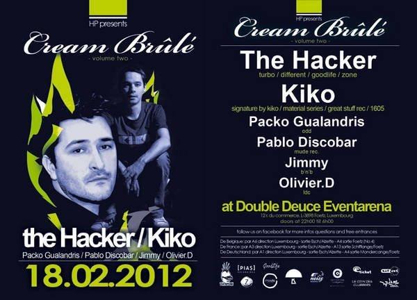 The Hacker & Kiko In Luxembourg - Flyer front