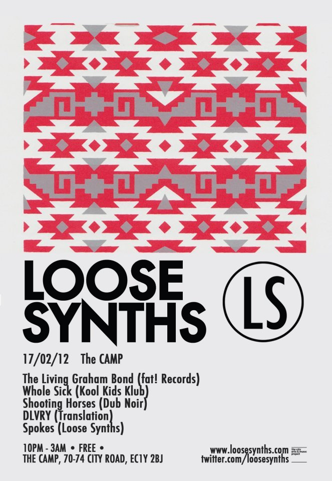 Loose Synths 005 - The Living Graham Bond - Flyer front