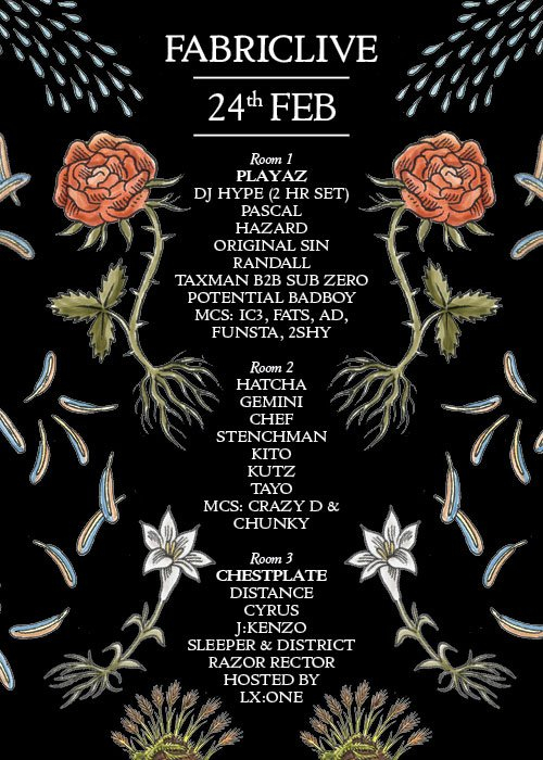 Playaz - Flyer front