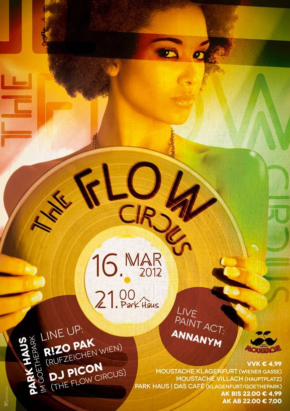 The Flow Circus - Flyer front