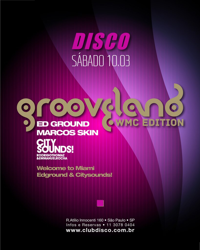 Grooveland Party - Flyer front