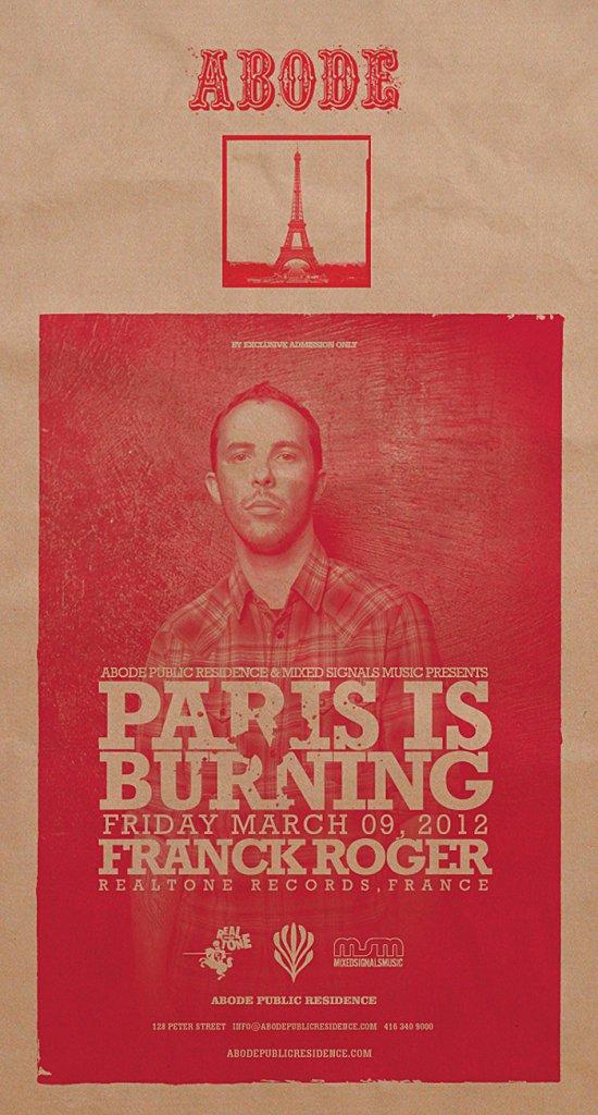 Paris Is Burning with Franck Roger - Flyer front