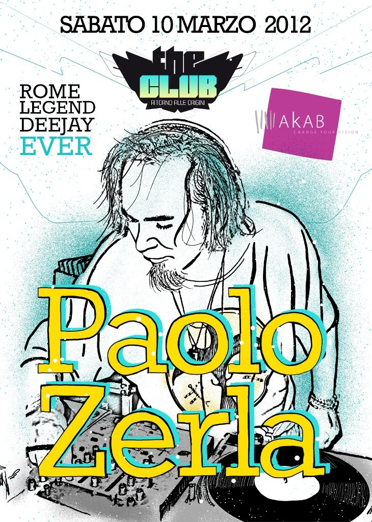 The Club Roma Special Guest paolo Zerla - Flyer front