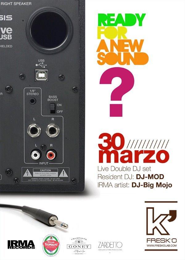 Ready 4 A New Sound: Double DJ set - Flyer front