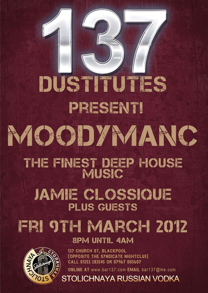Moodymanc Returns - Flyer front