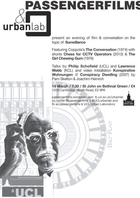 The Conversation and Surveillance - Flyer front