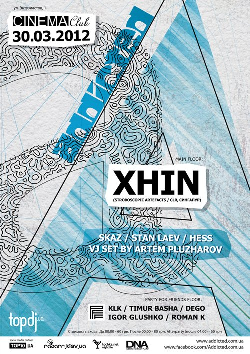 Addicted with Xhin - Flyer front