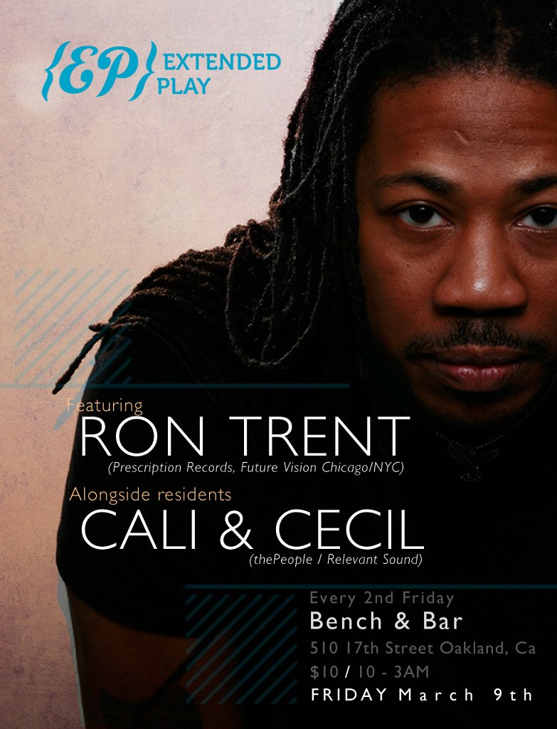 {ep} Extended Play feat Ron Trent - Flyer front