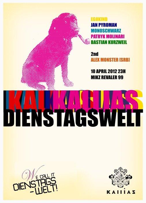 Dienstagswelt: Kallias Nacht - Flyer front