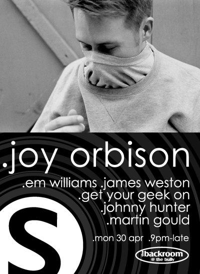 Simple presents Joy Orbison - Flyer front