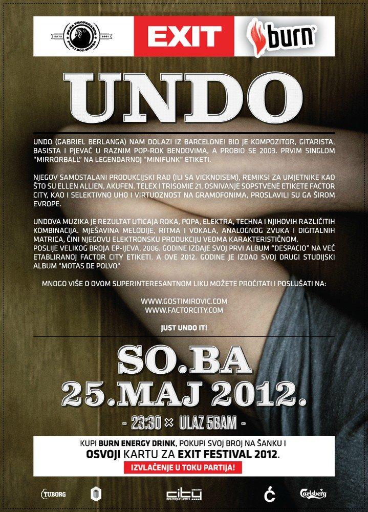 Undo - Factor City, Barcelona - Flyer back