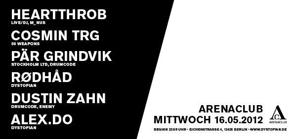 Dystopian with Cosmin TRG, Heartthrob, Pär Grindvik, Dustin Zahn,Rødhåd, Alex.Do & More - Flyer back
