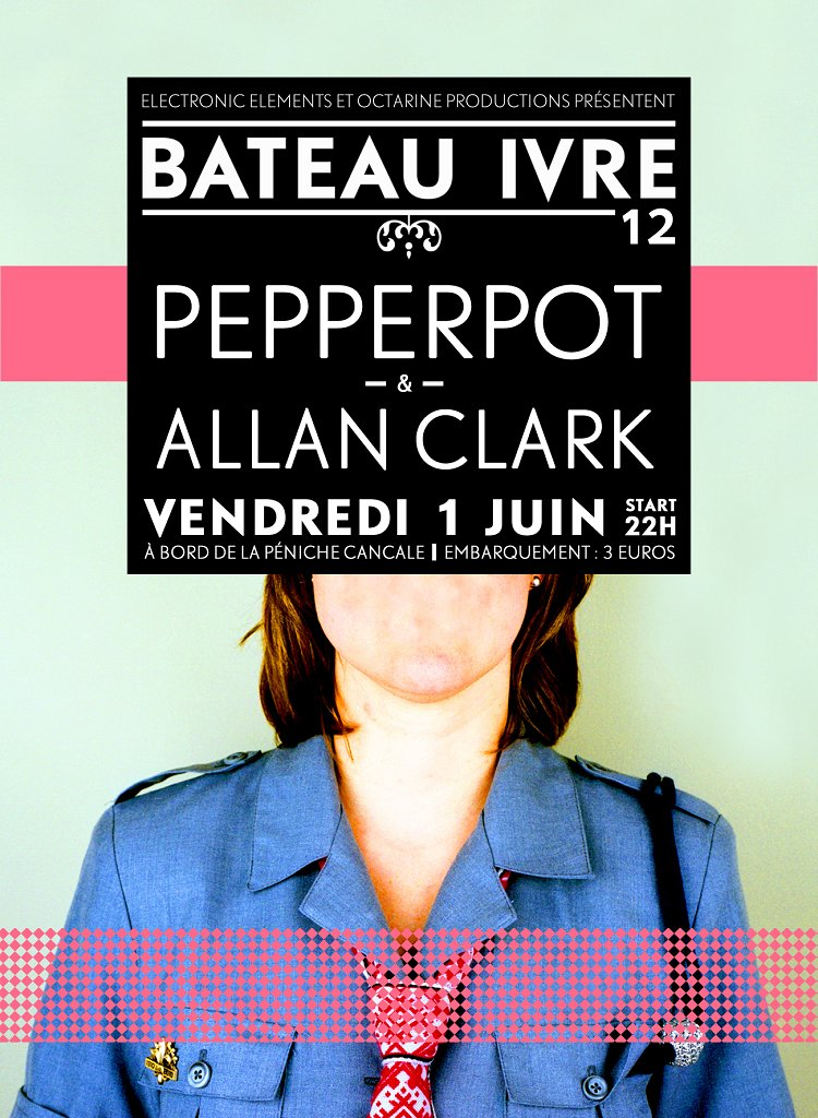 Bateau Ivre with Pepperpot - Flyer front