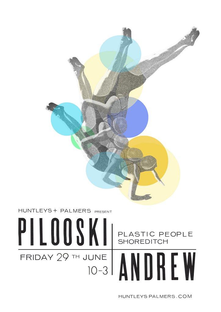 Huntleys & Palmers: Pilooski & Friends - Flyer front