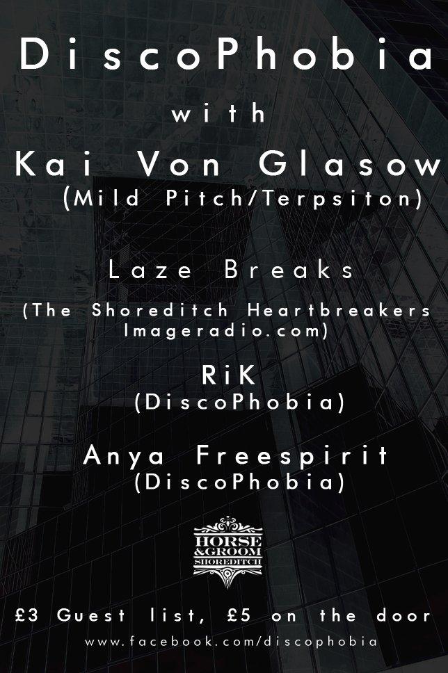 Discophobia with Kai Von Glasow - Flyer back