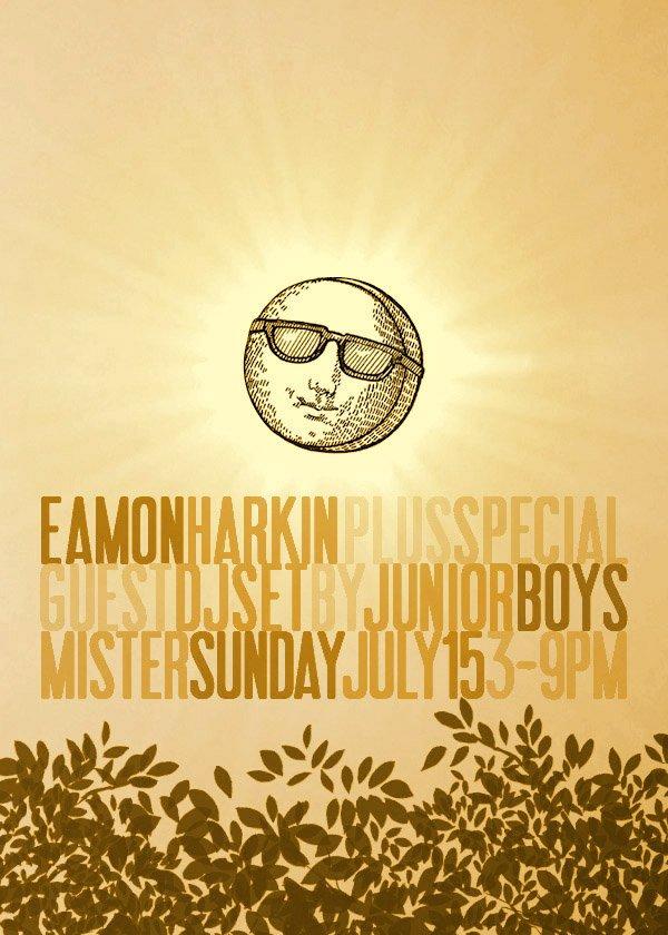 Mister Sunday with Eamon Harkin and a DJ set by Junior Boys - Flyer back