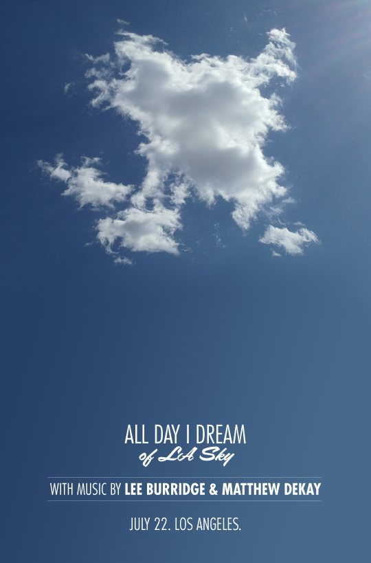 All Day I Dream of LA Sky - Flyer front