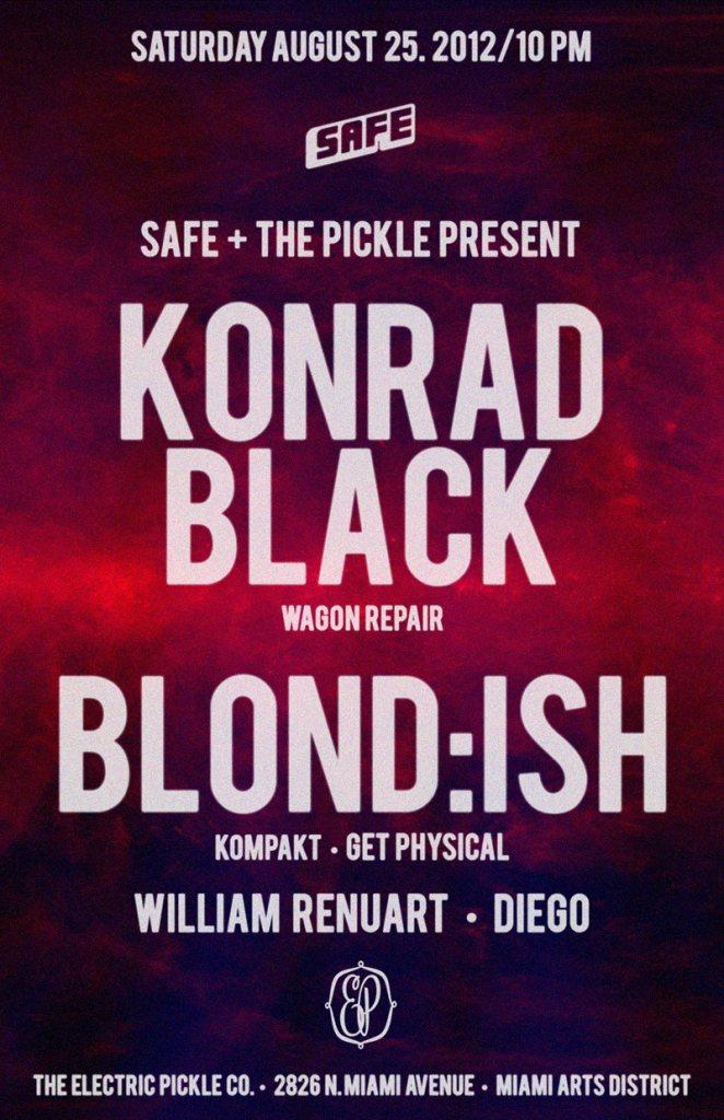 The Electric Pickle & Safe present Konrad Black & Blond:ish - Flyer front