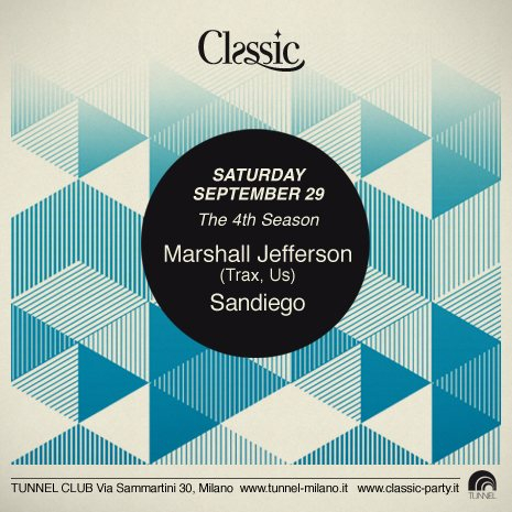 Classic with Marshall Jefferson - Flyer front
