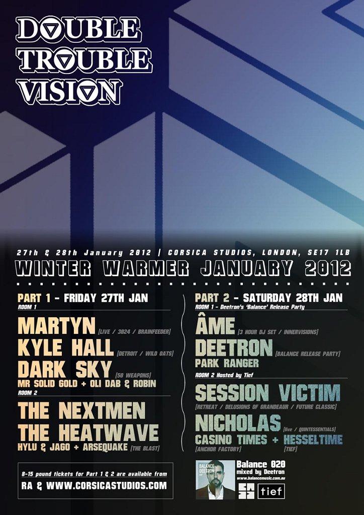 (Double) Trouble Vision.2: Âme, Deetron, Nicholas - Flyer back