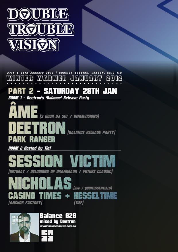 (Double) Trouble Vision.2: Âme, Deetron, Nicholas - Flyer front